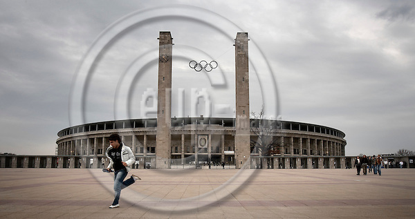 """BERLIN - GERMANY .  2006 --  GERMANY 7. APRIL 2006 -- Olympiastadion in Berlin will host six matches during the FIFA World Cup which starts June 9th 2006, including the finale July 9th. Olympiastadion was build by the nazis to host the olympic games in 1936.  -- PHOTO: CHRISTIAN T. JOERGENSEN / EUP- IMAGES.This image is delivered according to terms set out in """"Terms - Prices & Terms"""". (Please see www.eup-images.com for more details)"""