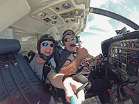 Pictured:  Dave Ibbotson (R) from Crowle, north Lincolnshire, who was the pilot of the Piper Malibu carrying footballer Emiliano Sala from Nantes to Cardiff.<br /> Re: Premier League footballer Emiliano Sala was on a flight which disappeared between France and Cardiff.<br /> The Argentine striker was one of two people on board the Piper Malibu, which disappeared off Alderney on Monday night.<br /> Cardiff City FC, signed the 28-year-old from French club Nantes.