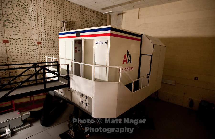 An MD80 flight simulator at American Airlines near Dallas-Fort Worth International Airport (DFW) in Dallas, Texas, Friday, May 14, 2010. ..PHOTO: MATT NAGER