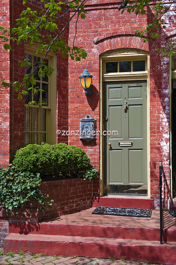 Old Town Alexandria Virginia, beautiful 18th-19th-century, historic, architecture, , pictures of front door entrances