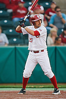 Tyler Ogle (35) at bat during the NCAA matchup between the University of Arkansas-Little Rock Trojans and the University of Oklahoma Sooners at L. Dale Mitchell Park in Norman, Oklahoma; March 11th, 2011.  Oklahoma won 11-3.  Photo by William Purnell/Four Seam Images