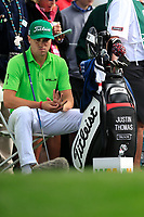 Justin Thomas (USA) on the 3rd tee during the 3rd round of the Waste Management Phoenix Open, TPC Scottsdale, Scottsdale, Arisona, USA. 02/02/2019.<br /> Picture Fran Caffrey / Golffile.ie<br /> <br /> All photo usage must carry mandatory copyright credit (&copy; Golffile | Fran Caffrey)