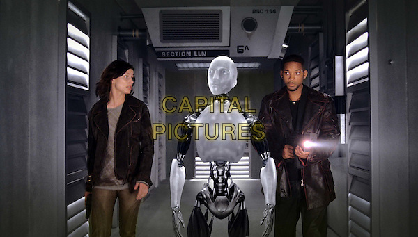 BRIDGET MOYNAHAN, SONNY THE ROBOT (performance created by Alan Tudyk) & WILL SMITH .in I, Robot.*Editorial Use Only*.www.capitalpictures.com.sales@capitalpictures.com.Supplied by Capital Pictures.