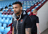 Blackpool's Curtis Tilt arrives at Glanford Park<br /> <br /> Photographer David Shipman/CameraSport<br /> <br /> The EFL Sky Bet League One - Scunthorpe United v Blackpool - Friday 19th April 2019 - Glanford Park - Scunthorpe<br /> <br /> World Copyright © 2019 CameraSport. All rights reserved. 43 Linden Ave. Countesthorpe. Leicester. England. LE8 5PG - Tel: +44 (0) 116 277 4147 - admin@camerasport.com - www.camerasport.com