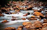 Soft cascades along the North Fork of Lake Creek near Mount Elbert and Buena Vista, Colorado.