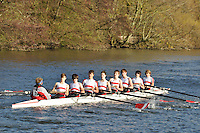 079 .KGS-Waters .J15A.8+ .Kingston G Sch. Wallingford Head of the River. Sunday 27 November 2011. 4250 metres upstream on the Thames from Moulsford railway bridge to Oxford Universitiy's Fleming Boathouse in Wallingford. Event run by Wallingford Rowing Club..