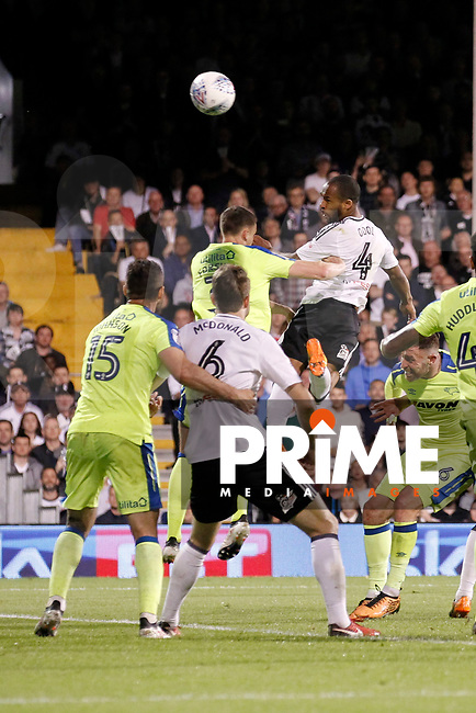 GOAL - Denis Odoi of Fulham scores the second goal during the Sky Bet Championship play off semi final 2nd leg match between Fulham and Derby County at Craven Cottage, London, England on 15 May 2018. Photo by Carlton Myrie / PRiME Media Images.