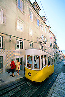 Funicular on Rua de Bica de Duarte Belo, Lisbon, Portugal