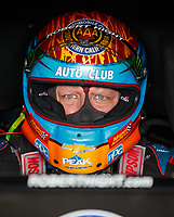 Oct 6, 2018; Ennis, TX, USA; NHRA funny car driver Robert Hight during qualifying for the Fall Nationals at the Texas Motorplex. Mandatory Credit: Mark J. Rebilas-USA TODAY Sports