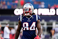 August 9, 2018: New England Patriots wide receiver Cordarrelle Patterson (84) warms up prior to the NFL pre-season football game between the Washington Redskins and the New England Patriots at Gillette Stadium, in Foxborough, Massachusetts.The Patriots defeat the Redskins 26-17. Eric Canha/CSM