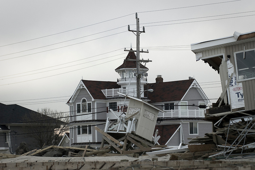Sea Bright, NY after Hurricane Sandy.