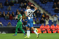 7th November 2019; RCDE Stadium, Barcelona, Catalonia, Spain; UEFA Europa League Football, Real Club Deportiu Espanyol de Barcelona versus PFC Ludogorets Razgrad;  Matias Vargas celebration after scoring - Editorial Use