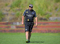 Head coach Chris Boyd. Hurricanes rugby union training at Rugby League Park in Wellington, New Zealand on Wednesday, 24 January 2018. Photo: Dave Lintott / lintottphoto.co.nz