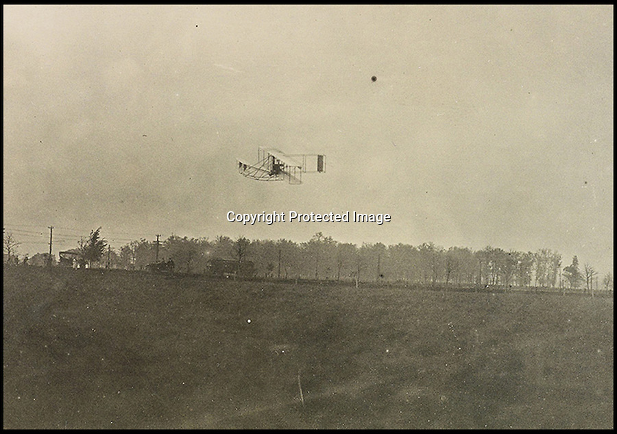BNPS.co.uk (01202 558833)<br /> Pic: SwannAuctions/BNPS<br /> <br /> ***Please use full byline***<br /> <br /> Wright brothers Model B.<br /> <br /> A fascinating archive of previously unseen photographs documenting the Wright Brothers' pioneering advances in early flight has come to light.<br /> <br /> The black and white photos chart Wilbur and Orville Wright's work developing their rudimentary aircraft in the years following their historic first powered flight in 1903.<br /> <br /> The collection was compiled by aviation enthusiast Walt Burton, who bought two albums of photos of the Wright Brothers from Frank Hermes, a businessman who paid the pair to fly his freight around.<br /> <br /> It expected to fetch upwards of £20,000 when it goes under the hammer at Swann Auction Galleries.