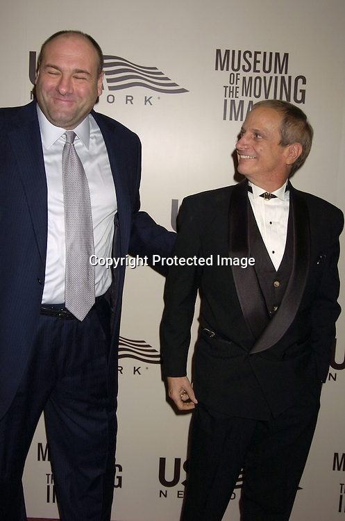 James Gandolfini and Ron Palillo..at the American Museum of the Moving Image salute to John Travolta on December 5, 2004 at The Waldorf Astoria ..Hotel. ..Photo by Robin Platzer, Twin Images