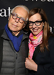 "John Guare and Allison Janney attend the Broadway Production of  ""Sweat"" at studio 54 Theatre on March 26, 2017 in New York City"