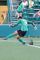 Rochester, NY - Friday June 17, 2016: Portland Thorns FC goalkeeper Adrianna Franch (24) during a regular season National Women's Soccer League (NWSL) match between the Western New York Flash and the Portland Thorns FC at Rochester Rhinos Stadium.