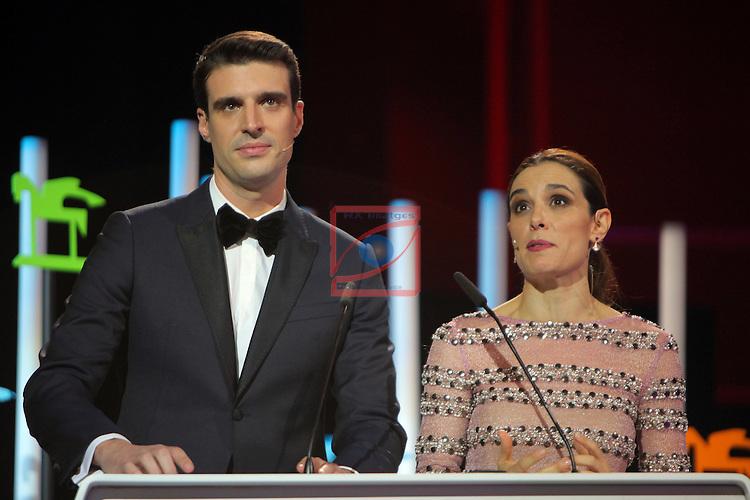 63 Premios Ondas.<br /> Gala de Entrega de los premios.<br /> Uri Sabat &amp; Raquel Sanchez Silva.