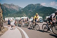 Geraint Thomas (GBR/SKY) up the final climb of the day (in Spain!): the Col du Portillon (Cat1/1292m)<br /> <br /> Stage 16: Carcassonne &gt; Bagn&egrave;res-de-Luchon (218km)<br /> <br /> 105th Tour de France 2018<br /> &copy;kramon