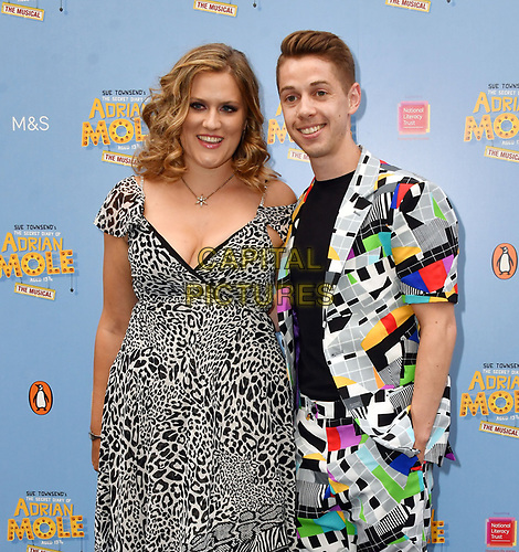 Pippa Cleary and Jake Brunger attend The Secret Diary Of Adrian Mole Aged 13 ¾ musical adaptation of Sue Townsend's comic fiction which opens in Adrian's 50th birthday year and follows the daily dramas and misadventures of the teenager's adolescent life, at Ambassadors Theatre, London, England on July 02, 2019.<br /> CAP/JOR<br /> ©JOR/Capital Pictures