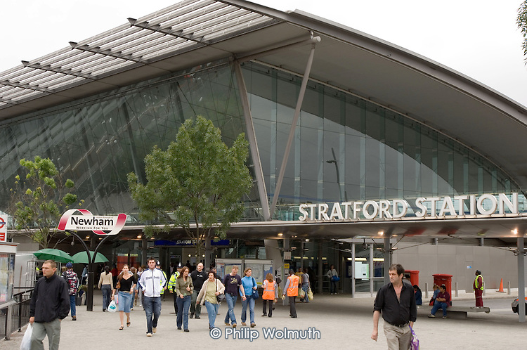 Stratford Station, in Newham, will be a critical transport hub for the 2012 London Olympics.