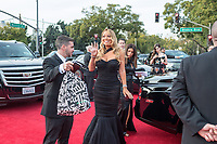 NOMINEE for BEST ORIGINAL SONG -- MOTION PICTURE for &quot;The Star&quot;, Mariah Carey arrives at the 75th Annual Golden Globe Awards at the Beverly Hilton in Beverly Hills, CA on Sunday, January 7, 2018.<br /> *Editorial Use Only*<br /> CAP/PLF/HFPA<br /> &copy;HFPA/PLF/Capital Pictures
