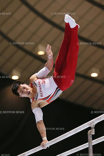 Koji Yamamuro, <br /> MAY 5, 2016 - Artistic Gymnastics : <br /> The 55th NHK Cup men's Individual All-Around, <br /> Parallel Bars <br /> at Yoyogi 1st Gymnasium, Tokyo, Japan. <br /> (Photo by Yohei Osada/AFLO SPORT)