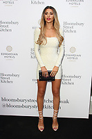 Joanna Chimonides at the Bloomsbury Street Kitchen Restaurant Launch Party in London on August 8th 2019<br /> CAP/ROS<br /> ©ROS/Capital Pictures
