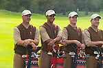 USA Team Photo for the 2006 Ryder Cup at The K Club featuring Brett Wetterich, Tiger Woods, Zach Johnson and Scott Verplank..Photo: Eoin Clarke/Newsfile.