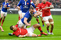 Louis Picamoles of France scores a try during the NatWest Six Nations match between France and Wales on February 1, 2019 in Paris, France. (Photo by Anthony Dibon/Icon Sport)