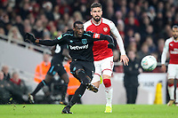 Pedro Obiang of West Ham United plays a pass during the Carabao Cup Quarter Final match between Arsenal and West Ham United at Emirates Stadium on December 19th 2017 in London, England <br /> Premier League 2017/2018 <br /> Foto Panoramic / Insidefoto