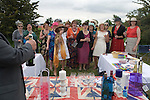 Ladies Day at The Derby horse race. Epsom Down Surrey UK. Ladies from the Raynes Park Bakery, Durham Road, south west London celebrate the Queen's Diamond Jubilee.