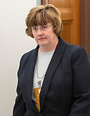 Phoenix prosecutor Rachel Mitchell walks in the hallway during a break in the testimony before the United States Senate Committee on the Judiciary as Judge Brett Kavanaugh attempts to refute the testimony of Dr. Christine Blasey Ford on his nomination to be Associate Justice of the US Supreme Court to replace the retiring Justice Anthony Kennedy on Capitol Hill in Washington, DC on Thursday, September 27, 2018.<br /> Credit: Ron Sachs / CNP<br /> (RESTRICTION: NO New York or New Jersey Newspapers or newspapers within a 75 mile radius of New York City)