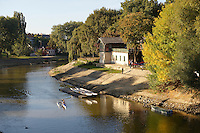 River Raba and Boat House - ( Gy?r )  Gyor Hungary