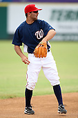 October 5, 2009:  Shortstop Danny Espinosa of the Washington Nationals organization during an Instructional League game at Space Coast Stadium in Viera, FL.  Espinosa was selected in the 3rd round of the 2008 MLB Draft.  Photo by:  Mike Janes/Four Seam Images