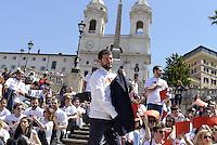 Roma, 9 Maggio 2014<br /> 'I Love EU' - Flash mob organizzato da Scelta Civica in occasione della Festa dell'Europa.<br /> Al centro Andrea Romano