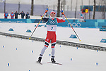 Simen Hegstad Krueger (NOR) celebrates winning. Mens 15km Skiathlon. Cross country skiing. Pyeongchang2018 winter Olympics. Alpensia cross country centre. Alpensia. Gangneung. Republic of Korea. 11/02/2018. ~ MANDATORY CREDIT Garry Bowden/SIPPA - NO UNAUTHORISED USE - +44 7837 394578