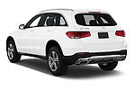 Car pictures of rear three quarter view of a 2020 Mercedes Benz GLC-Class GLC300 5 Door SUV angular rear
