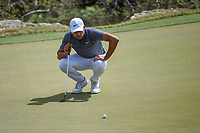 Julian Suri (USA) lines up his putt on 2 during day 2 of the World Golf Championships, Dell Match Play, Austin Country Club, Austin, Texas. 3/22/2018.<br /> Picture: Golffile | Ken Murray<br /> <br /> <br /> All photo usage must carry mandatory copyright credit (&copy; Golffile | Ken Murray)
