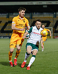 29.03.2019 Livingston v Hibs: Declan Gallagher and Marc McNulty