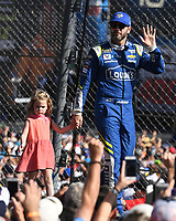 HOMESTEAD, FL - NOVEMBER 19: Jimmie Johnson waves to the Crowd during the Monster Energy NASCAR Cup Series Championship Ford EcoBoost 400 at Homestead-Miami Speedway on November 19, 2017 in Homestead, Florida. Credit: mpi04/MediaPunch /NortePhoto.com