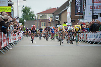 Andr&eacute; Greipel (DEU/Lotto-Soudal) beats Moreno Hofland (NLD/LottoNL-Jumbo) by the smallest margin on the finish line to win stage 3 (Buchten-Buchten; 190km) of the<br /> 29th Ster ZLM Tour 2015