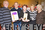 Members of Listowel tidy town committee with their awards at the bazaar in Listowel on saturday night, from l-r Michael Cronin, John McConnell, Mary Hanlon, Julie Gleeson and Aine Andrews.  .   Copyright Kerry's Eye 2008