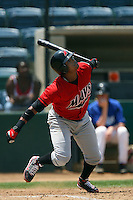 July 16 2008: Carlos Triunfel of the High Desert Mavericks during game against the Rancho Cucamonga Quakes at The Epicenter in Rancho Cucamonga,CA.  Photo by Larry Goren/Four Seam Images