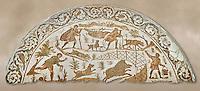 4th century Roman mosaic panel of a boar hunt from Cathage, Tunisia. The Bardo Museum, Tunis, Tunisia.