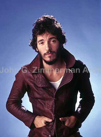 Portrait of Bruce Springsteen, Los Angeles, 1975. Photo by John G. Zimmerman.