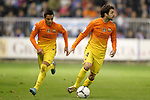 FC Barcelona's Cesc Fabregas (r) and Alexis Sanchez during Spanish King's Cup match.October 30,2012. (ALTERPHOTOS/Acero)