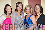 NIGHT OUT: Enjoying themselves at The Kerry Badminton Social held in The Earl of Desmond Hotel on Friday night were l-r: Denise Collins, Michelle Corridan, Eileen Nolan and Deirdre Normoyle (all Moyvane Badminton Club).   Copyright Kerry's Eye 2008