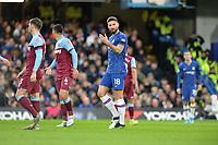 Olivier Giroud Of Chelsea FC during Chelsea vs West Ham United, Premier League Football at Stamford Bridge on 30th November 2019