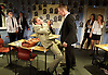 A Level Playing Field <br /> by Jonathan Lewis <br /> at the Jermyn Street Theatre<br /> London, Great Britain <br /> 13th April 2015 <br /> Press photocell <br /> <br /> <br /> Joe Layton  (Mr Preston)<br /> Abe Lewis